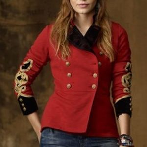 Denim & Supply RARE Red Bohemian Military Jacket